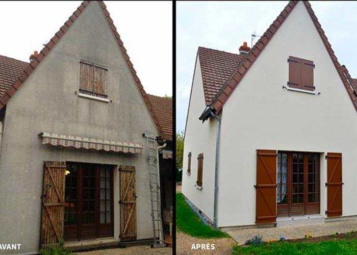 Peinture et ravalement de façade extérieure à Linas